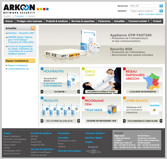 Découvrir la gamme des produits ARKOON